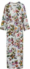 Grijze Essenza Ilona Fleur Dames Nachtmode kimono Maat S