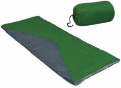 VidaXL Slaapzakken 2 st envelop lichtgewicht 10 1100 g groen