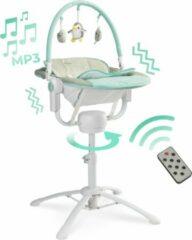 Blauwe Caretero Kivi Wipstoel 3 in 1 Muziek (schommelstoel - ligstoel ) met afstandsbediening Blue