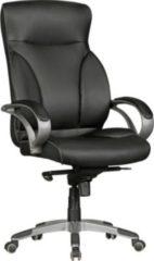 AMSTYLE Bürostuhl BERLIN XXL Kunst-Leder schwarz 150 kg Belastbarkeit Chefsessel mit Kopfstütze & Multiblockmechanik Design Drehstuhl verstellbar S