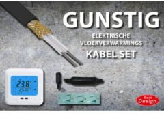 Best Design Gunstig vloerverwarmings kabel set 31 mtr 620 Watt 4004880