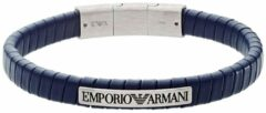 Emporio Armani Fashion Armband (Lengte: 18.00-19.50 cm) - Blauw,Zilver