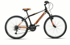 Montana Bike 24 ZOLL MONTANA ESCAPE JUNGEN MOUNTAINBIKE HARDTAIL 18 GANG STARRGABEL Kinder schwarz-orange