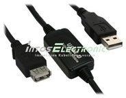 InLine USB 2.0 Aktiv-Verlängerung - mit Signalverstärkung ''Repeater'' - Stecker A an Buchse A - 10m 34611I