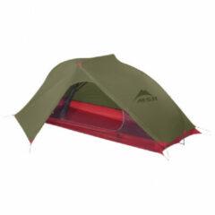 MSR - Carbon Reflex 1 Tent V4 - 1-persoonstent maat 213 x 76 x 86 cm, olijfgroen/rood