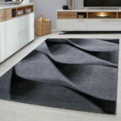 Ayyildiz Parma Design Vloerkleed Zwart / Grijs Laagpolig - 80x300 CM
