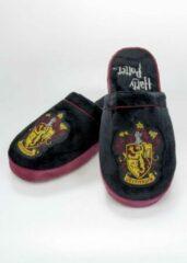Zwarte Groovy Harry Potter Griffoendor instap pantoffels met anti slip - Maat 42-45
