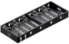 Goobay 11986 Batterijhouder 10 AA (penlite) Soldeeraansluiting (l x b x h) 151 x 57.3 x 15.8 mm