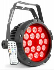 Zwarte BeamZ Professional 2e keus - BeamZ BWA418 waterdichte Aluminium LED PAR voor buitengebruik