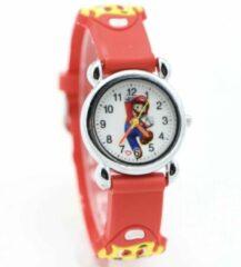 12Getit Kinder horloge Mario Rood met siliconen bandje
