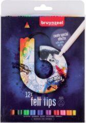 Koninklijke Talens B.V Bruynzeel Teens 12 super viltstiften - met witte wis-stift