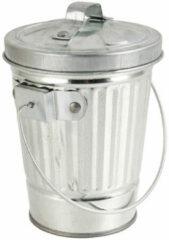 Xenos Mini prullenbak - zilver - ⌀8.8x11 cm