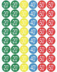 Agipa Kortinglabel van -20% tot - 50% (80 x -20%, 40 x -30%, 40 x -40%, 80 x -50%), geassorteerde kleu...