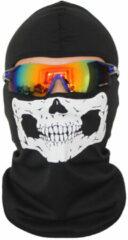 Witte Merkloos / Sans marque Bivakmuts Ski Muts Skull Muts met schedel print