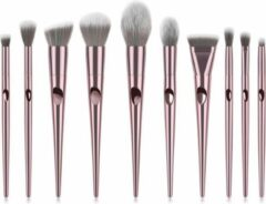 Roze Mvr cosmetics Make-up kwasten set 10-delig