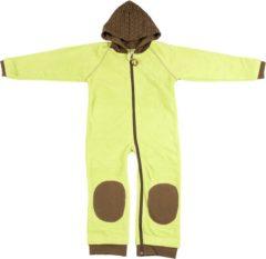 Groene Ducksday fleece suit unisex groen/bruin - 110/116