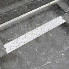 Roestvrijstalen VidaXL Doucheafvoer rechthoekig bubbel 830x140 mm roestvrij staal