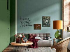 Zwarte Drart - Home Sweet Home 37 cm x 33 cm - Metalen Wanddecoratie Quote
