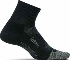 Feetures - Elite Ultra Light Quarter - Zwart - Hardloopsokken - Sportsokken - L - 42/46