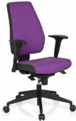 Paarse Hjh office Pro-Tec 500 - Bureaustoel - Stof - Lila / grijs