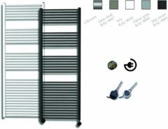Sanicare electrische design radiator 172x60cm chroom-chroom