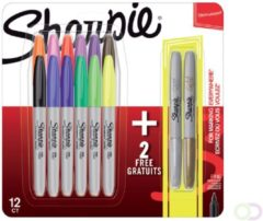 Viltstift Sharpie metallic rond 0.9mm blister à 14 stuks assorti