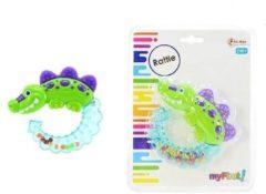 Groene Toi-Toys Toi Toys krokodillen rammelaar groen 12 cm