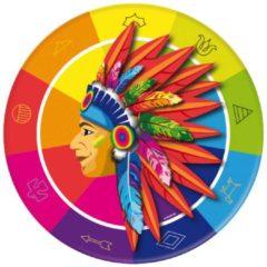 Generik 8 kartonnen Indiaan borden - Feestdecoratievoorwerp
