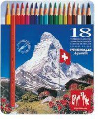 Alles Voor Kleuren Kleurpotloden Caran d'Ache Prismalo Aquarel doos á 18 stuks