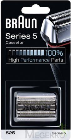 Afbeelding van Zilveren Braun 52S Series 5 Cassette - Vervangend Scheerblad Zilver