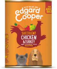 Edgard-Cooper Edgard&Cooper Blik Chicken Turkey Adult - Hondenvoer - Kip Kalkoen Aardbei 400 g Graanvrij