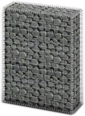 VidaXL Gabion mand met deksel en gegalvaniseerde draad 100 x 80 x 30 cm