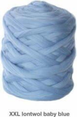 Blauwe Chunkywol 2 kg babyblue XXL wol, Merino Lontwol 3 kg babyblue