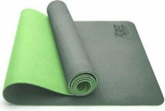 Sens Design yogamat sportmat fitnessmat donkergroen/lichtgroen
