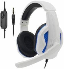 Blauwe Geeek Gaming Headset Over-Ear Surround Stereo Game Koptelefoon met Microfoon voor PS5/PS4/Xbox One/Mac/PC