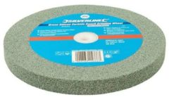 Silverline Silikon-Karbid Gartenbankschleifscheibe grün 200 x 20 mm - mittel 976303