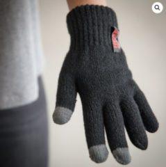 Grijze Heat Keeper Thermo heren handschoenen met i-touch zwart - L/XL