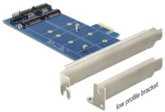 DeLOCK PCI Express Card > 2 x internal M.2 NGFF - Speicher-Controller - USB 2.0 / M.2 Card / SATA