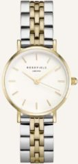 Rosefield Small Edit Dames Horloge - Zilver + Goud Ø26mm - 26SGD-269
