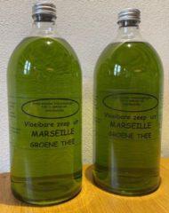 Provendi Vloeibare Marseille zeep, navulling 2 x 1000 ml Groene thee
