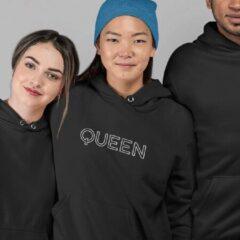 Zwarte B&C Collection King & Queen Hoodie Origin (Queen - Maat XXL)