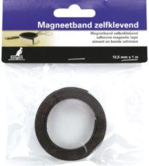 Zwarte Magneetband Kangaro zelf-klevend 12,5mm x 1 meter
