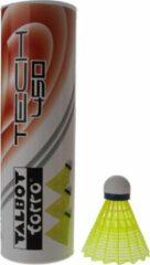 Talbot Torro Badminton Shuttles Tech 450 Geel/blauw 6 Stuks