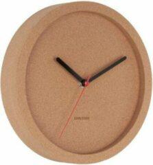 Naturelkleurige Karlsson Wall clock Tom cork