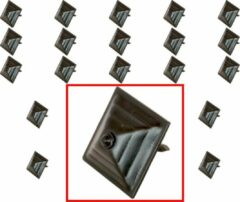 AMIG – Stalen Stoffeernagels Siernagels Meubelnagels Sierspijkers – 30 x 30 x 35mm - Pyramidevorm – Zwart – Rustiek Ornament - 20 stuks
