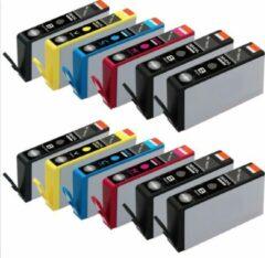 ReYours® huismerk HP 364 XL 364XL Compatible Inktcartridge 12-pack 4 Zwart/ 2 Cyaan /2 Magenta /2 Geel/ 2 photo Zwart (PBK) , met chip inktniveau weergeven