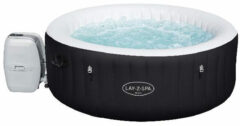 Bestway Lay-Z-spa Miami Jacuzzi Opblaasbaar (2021) - Bubbelbad voor 4 personen - Incl Pomp en Afdekzeil - Ø 180x66 cm - Zwart