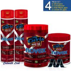 Novex My Curls Movie Star Shampoo + Conditioner 10.1oz + Leave in + Hair Mask 35oz