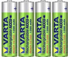 Varta Ready2Use HR06 Oplaadbare AA batterij (penlite) NiMH 1350 mAh 1.2 V 4 stuks