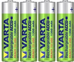 Groene Varta Ready2Use HR06 1350 mAh Nikkel Metaal Hydride 1350mAh oplaadbare batterij/accu